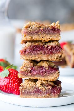 These gooey, sweet, and perfectly chewy Almond Butter and Jelly Cookie Bars are a great treat to have around for a heathy snack or dessert. They're paleo, vegan, gluten-free, easy to make and total comfort food!