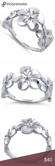 Sterling silver 925 flower ring This solid Sterling Silver (925) is gorgeous. The polished silver is the highest quality and will be a treasured addition to any jewelry collection. 925 Jewelry Rings
