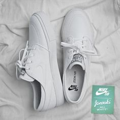 Nike SB Zoom Stefan Janoski: All White Clothing, Shoes & Jewelry : Women : Shoes http://amzn.to/2kHQg0c
