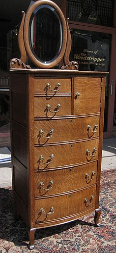 Quartersawn Antique Oak Chest Of Drawers