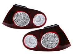 European OEM Style Cherry Red LED Taillights for MK5 Golf, Rabbit, GTI & R32
