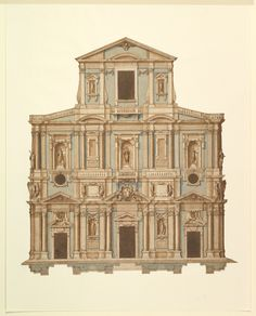 Attributed to Cigoli (Ludovico Cardi)   Drawing for Buontalenti's Model for the Facade of S. Maria del Fiore of Florence   The Metropolitan Museum of Art