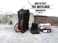 Leather Travel Bag by The Westlands Made in di TheWestlandsStore