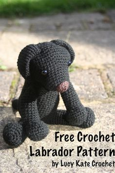 Free Crochet Puppy Pattern. How To Crochet Your Own Labrador Toy. Original Pattern, by Lucy Kate Crochet Animal Knitting Patterns, Crochet Amigurumi Free Patterns, Stuffed Animal Patterns, Crochet Blanket Patterns, Free Crochet, Afghan Patterns, Crochet Rabbit, Crochet Teddy, Crochet Toys