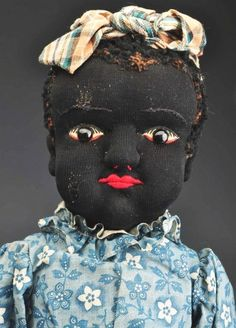 Black Cloth Stockinet Doll.
