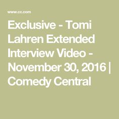 Exclusive - Tomi Lahren Extended Interview Video - November 30, 2016  | Comedy Central
