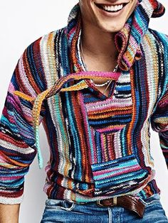 Latest Fashion Clothes, Fashion Outfits, Pullover, Vintage Shops, Hoods, Knitwear, Men Sweater, Sweater Cardigan, Mens Fashion