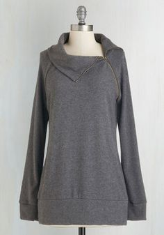 Stay Inn Sweater in Grey. Cozy as can be - thats how you feel every time you slip into this ModCloth-exclusive sweater! #grey #modcloth