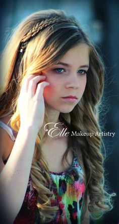 Fresh, clean and beautiful makeup for teen photoshoot
