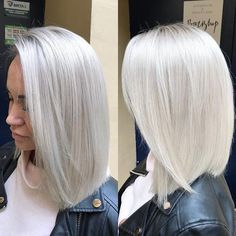 40 Absolutely Stunning Silver Gray Hair Color Ideas, These 40 absolutely stunning silver gray hair color ideas should not be considered as granny hair. However, the style has been warmly called that. Ice Blonde Hair, Silver Blonde Hair, Platinum Blonde Hair, Gray Hair, Silver Platinum Hair, Ice Hair, Silver White Hair, Hair Color And Cut, Hair Colour