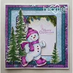 Heartfelt Creations - Merry Christmas Snowman Skating Project