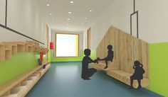 Interior design for kindergarten on Behance