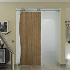 Duplex-S Sliding Door Hardware Kit | Barndoorhardware.com Sliding Door Hardware, Sliding Doors, Tall Cabinet Storage, Interior, Design, Furniture, Home Decor, Bedroom, Yellow Doors