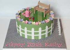 Gardener's cake Cake Icing, Fondant Cakes, Eat Cake, Cupcake Cakes, Cupcakes, Big Cakes, Just Cakes, Little Cakes, Garden Birthday Cake