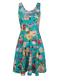 Tom's Ware Womens Casual Fit and Flare Floral Sleeveless Dress * Continue @ http://www.amazon.com/gp/product/B00IUOTWX4/?tag=passion4fashion003e-20&wx=050816150059