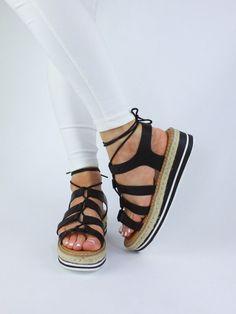 MELISSA Black Espadrille Sandal