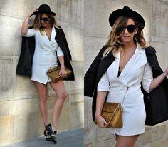 Manuella Lupascu - Choies Shoes, Sheinside Tuxedo Dress, Moschino Bag - Masculin Style