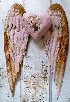 Pink angel wings