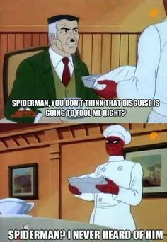 Spiderman's disguise : funny