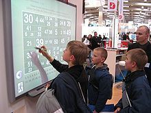 Interactive whiteboard at CeBIT 2007