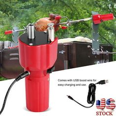 Original USB Barbecue Motor Rotisserie Rotator Electric BBQ Grill Rotating Motor For Outdoor Picnic Grill Skewers Barbecue Grill, Bbq Roast, Electric Bbq Grill, Patio Grill, Usb, Bbq Cover, Grill Plate, Covered Garden, Teeth Cleaning