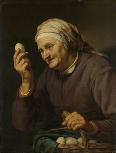 De eierenkoopvrouw, Hendrick Bloemaert (Utrecht, 1601/2-1672), 1632