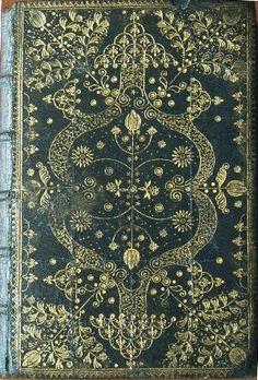Arabesque frame herringbone binding, 1717. Le nouveau testament. Mons: chez Gaspard Migeot, 1710. Shelfmark: F.4.f.5 Ref. 00000838