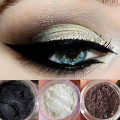 Fall Flash New Get This Look Trio Natural Vegan Eyeshadow and Eyeliner Makeup Cruelty