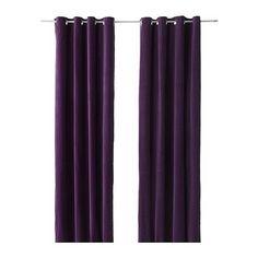 "IKEA Sanela  LILAC PURPLE Cotton Velvet Curtains Drapes  2 Panels  55 X 98""   #IKEA #ContemporaryTraditional"