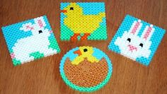 Rabbit and Chick Fuse Bead Designs