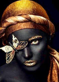 Pin by Allan Shooter on black art in 2019 Black Girl Art, Black Women Art, Art Girl, African Art Paintings, Black Art Pictures, Black Picture, Creation Art, Gold Aesthetic, Portrait Art