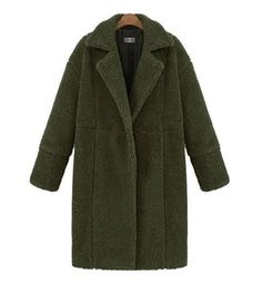 Casual Cocoon Faux Lambs Wool Coat