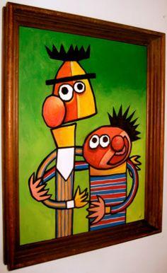 Cubist Bert and Ernie