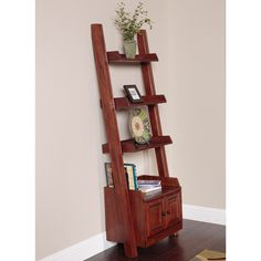 Ladder Bookcase with two doors | Overstock.com Shopping - The Best Deals on Media/Bookshelves