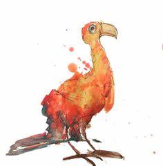 Phoenix Peacock http://ift.tt/2jr8em8 Art watercolor acrylic doodle art painting artistsoftumblr watercolor