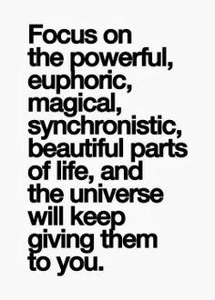 a euphoric magical beautiful life
