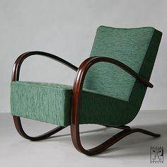Streamline armchair by Jindrich Halabala for UP Brno