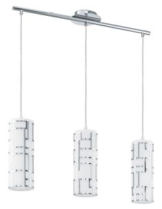 Bayman 3 Light Hanging Chrome Finish With Opal Glass