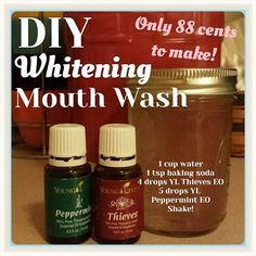 DIY Whitening Mouthwash