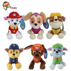 20-30 cm Anjing Mainan Rusia Anime Action Figure Boneka Mobil Patroli Patroli Anjing Puppy Toy Patrulla Canina Juguetes hadiah untuk Anak