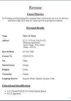 Basic Resume Format, Resume Format Free Download, Resume Format Examples, Biodata Format Download, Resume Pdf, Teacher Resume Template, Cv Format, Resume Templates, Sample Resume