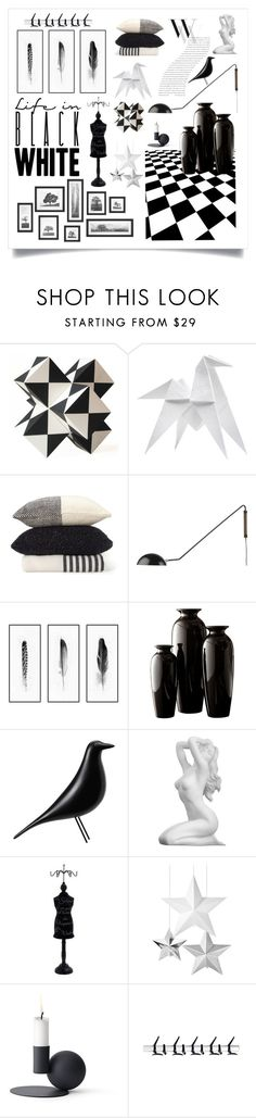 """Monochrome Design"" by caymansunshine on Polyvore featuring interior, interiors, interior design, home, home decor, interior decorating, Kelly Wearstler, Hermès, CB2 and Vitra"