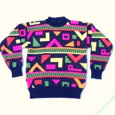 Original 80s aztec pattern jumper / sweater for men - so 80s it hurts!