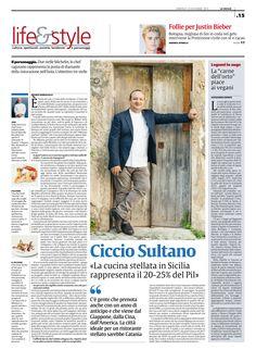 La cucina stellata dello chef Sultano sul quotidiano La Sicilia www.cicciosultano.it