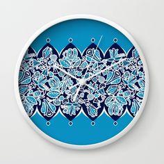 Fresh Flowers Wall Clock