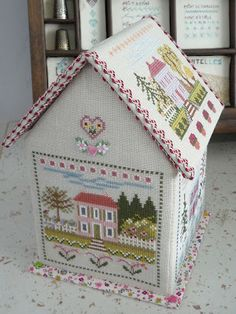 """Les maisons de Maryse"" Gorgeous sewing box to make and sew. Quilt Stitching, Cross Stitching, Cross Stitch Embroidery, Embroidery Patterns, Cross Stitch Designs, Cross Stitch Patterns, Cross Stitch House, Cross Stitch Finishing, Christmas Embroidery"