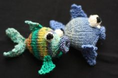 Rainbow Fish knitting pattern $3.90 on Craftsy at http://www.craftsy.com/pattern/knitting/toy/rainbow-fish-/50316
