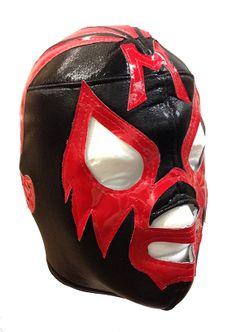 MIL MASCARAS Lucha Libre Wrestling Mask (pro-fit) Black/Red (www.maskmaniac.com)