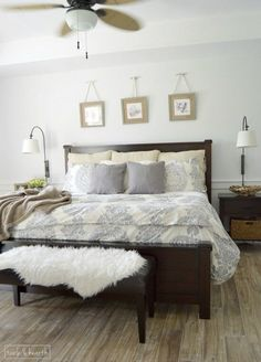 Sherwin williams ice cube A calm, fresh, and relaxing master bedroom makeover, with just a little touch of coastal!