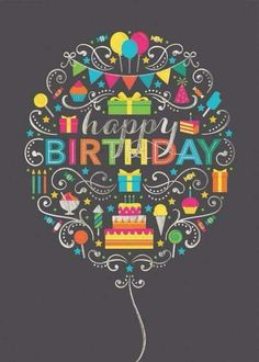 Happy Birthday deco balloon o. Happy Birthday Pictures, Happy Birthday Funny, Happy Birthday Messages, Birthday Love, Happy Birthday Greetings, Happy Birthday Cousin Male, Birthday Humorous, Birthday Lunch, Birthday Blessings